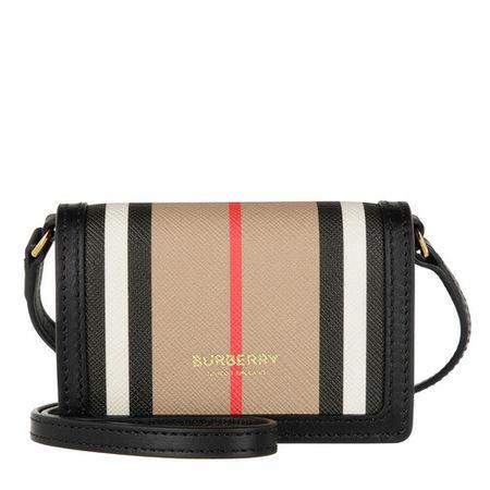 Burberry  Portemonnaie - Icon Stripe Strapped Cardholder - in beige - für Damen