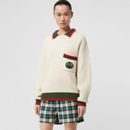 Burberry  Rippstrick-Pullover aus Wolle und Kaschmir