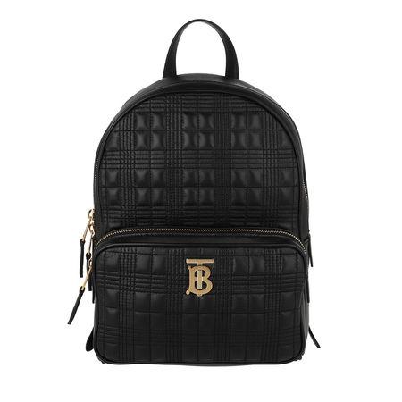 Burberry  Rucksack  -  TB Backpack Leather Black  - in schwarz  -  Rucksack für Damen schwarz