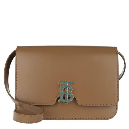 Burberry  Satchel Bag  -  TB Bag Medium Leather Brown  - in braun  -  Satchel Bag für Damen braun