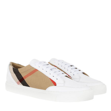 Burberry  Sneakers  -  House Check Sneakers White  - in weiß  -  Sneakers für Damen grau