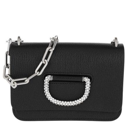 Burberry  Tasche  -  The Mini Crystal D-Ring Bag Leather Black  - in schwarz  -  Tasche für Damen schwarz