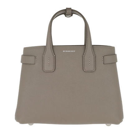 Burberry  Tote  -  Banner Tote Bag Leather Vintage Check Small Taupe  - in grau  -  Tote für Damen braun