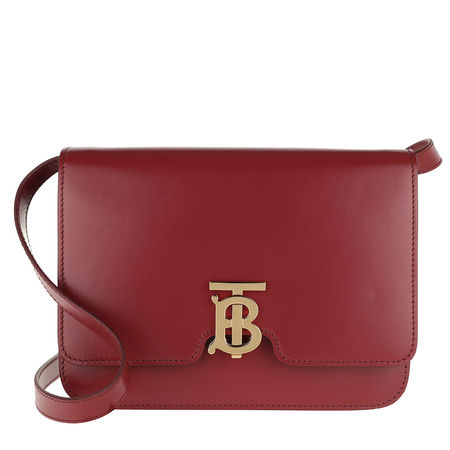 Burberry  Umhängetasche  -  Medium TB Monogram Bag Leather Crimson  - in rot  -  Umhängetasche für Damen braun