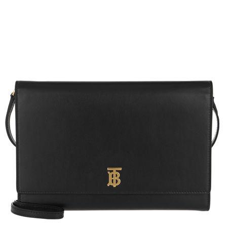 Burberry  Umhängetasche  -  Monogram Motif Bag Leather Black  - in schwarz  -  Umhängetasche für Damen schwarz