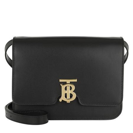 Burberry  Umhängetasche  -  TB Medium Shoulder Bag Leather Black  - in schwarz  -  Umhängetasche für Damen grau