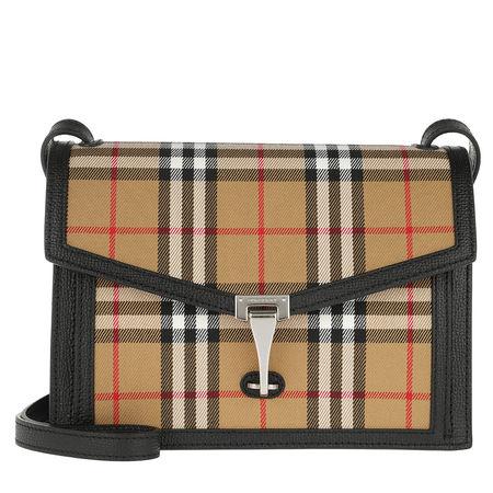 Burberry  Umhängetasche  -  Vintage Check Crossbody Bag Small Black  - in beige  -  Umhängetasche für Damen braun