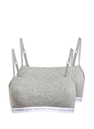 Calvin Klein  2er-Pack Bralettes grau grau