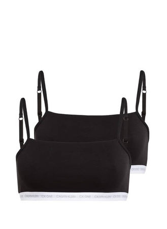 Calvin Klein  2er-Pack Bralettes schwarz schwarz