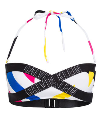 Calvin Klein  Bandeau-Bikini-Top Intense Power weiss schwarz