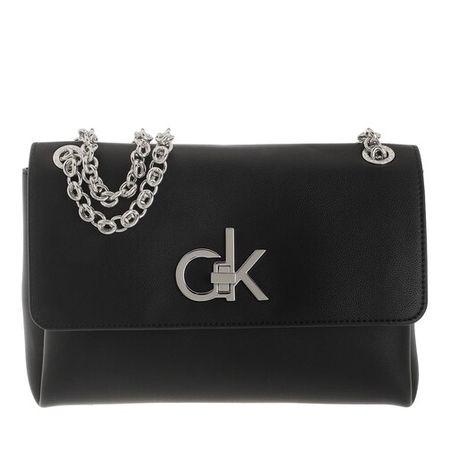 Calvin Klein  Crossbody Bags - Convertible Flap Medium Crossbody Bag - in schwarz - für Damen