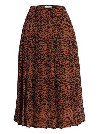 Calvin Klein  Plisseerock Georgette braun braun