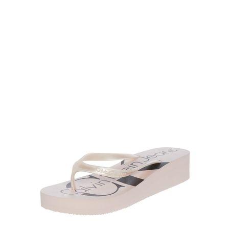 Calvin Klein Zehentrenner 'Tesse' mit Keilabsatz braun