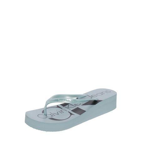 Calvin Klein Zehentrenner 'Tesse' mit Keilabsatz grau
