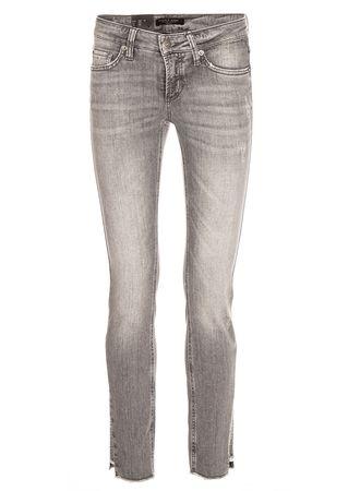 "CAMBIO Jeans mit Swarovski-Kristallen ""Liu"" in Grau grau"
