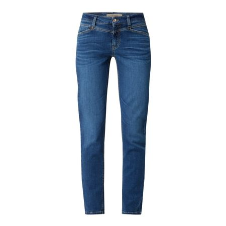 CAMBIO Slim Fit Jeans aus Organic Cotton Modell 'Parla' blau