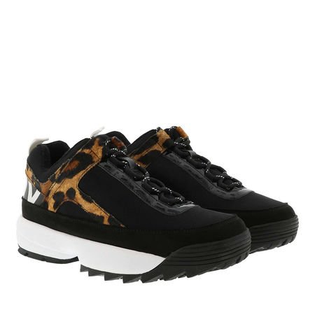 DKNY  Sneakers  -  Dani Lace Up Sneaker Black/Camo Multi  - in schwarz  -  Sneakers für Damen schwarz