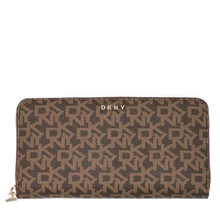 DKNY  Portemonnaie - Bryant New Zip Around Wallet Mocha/Caramel - in braun - für Damen braun