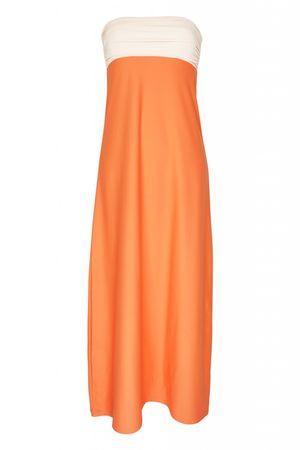 Carioca Collection Playa Bandeau Maxi Dress orange