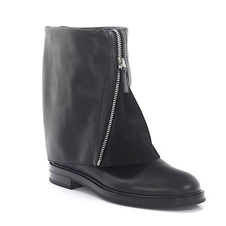 Casadei  Stiefel Kalbsleder  Veloursleder Zierreißverschluss schwarz grau