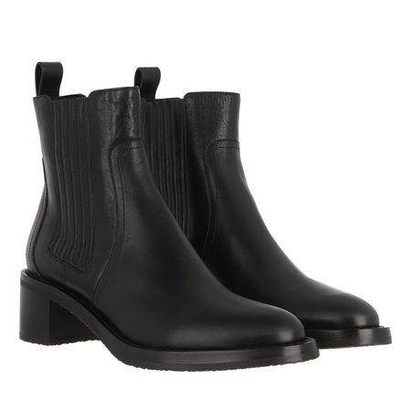 Céline Celine Boots & Stiefeletten - Chelsea Boots Leather - in black - für Damen schwarz