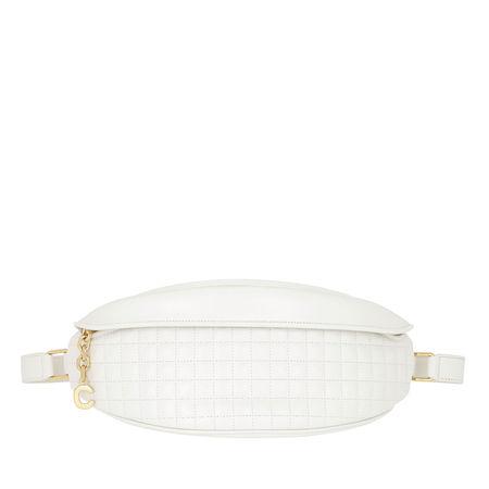 Céline Celine Gürteltasche  -  C Charm Belt Bag Quilted Leather White  - in weiß  -  Gürteltasche für Damen braun