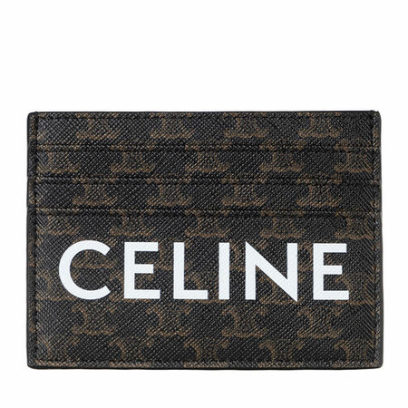 Céline Celine Portemonnaie - Logo Monogram Cardholder Leather - in schwarz - für Damen