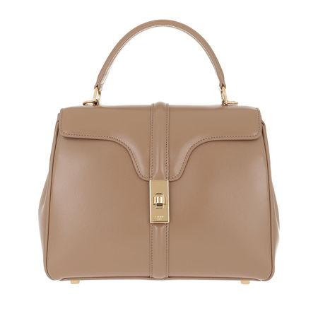 Céline Celine Satchel Bag  -  16 Bag Small Satinated Calfskin Beige  - in beige  -  Satchel Bag für Damen braun