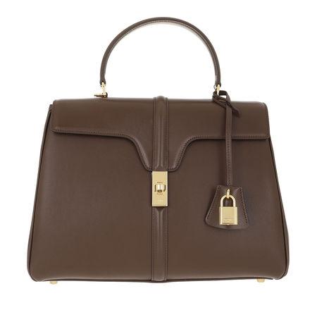 Céline Celine Satchel Bag  -  Medium 16 Bag Leather Brown  - in braun  -  Satchel Bag für Damen braun