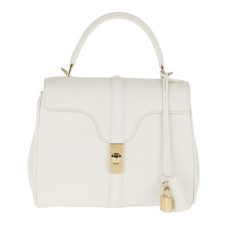 Céline Celine Satchel Bag  -  Small 16 Bag Leather White  - in weiß  -  Satchel Bag für Damen grau