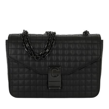 Céline Celine Umhängetasche  -  C Bag Medium Patent Calfskin Black  - in schwarz  -  Umhängetasche für Damen schwarz