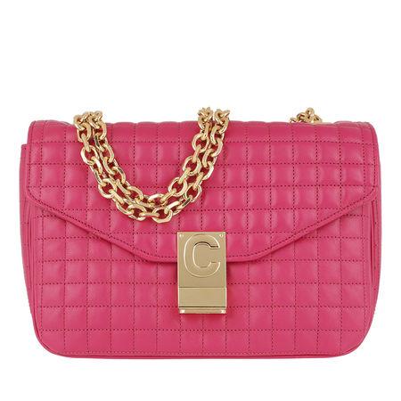 Céline Celine Umhängetasche  -  C Bag Medium Quilted Calfskin Pink  - in pink  -  Umhängetasche für Damen pink