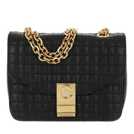 Céline Celine Umhängetasche  -  C Bag Small Quilted Calfskin Black  - in schwarz  -  Umhängetasche für Damen schwarz