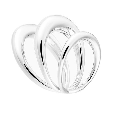Charlotte Chesnais  Ring  -  Echo Ring Silver  - in silber  -  Ring für Damen grau