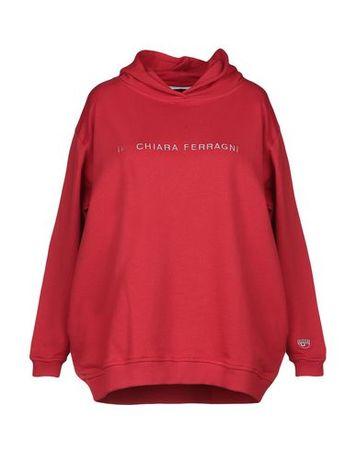 Chiara Ferragni  Damen Rot Sweatshirt Baumwolle rot