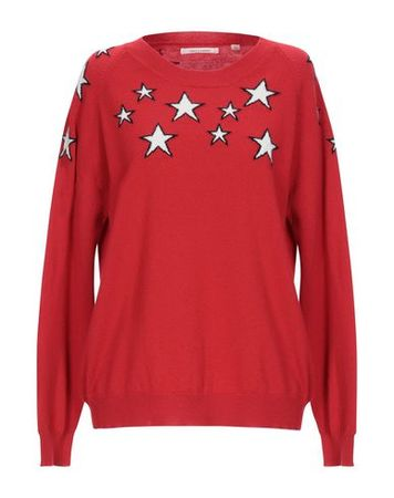 Chinti and Parker  L Damen Rot Pullover Baumwolle rot