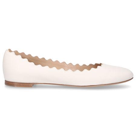 Chloé Ballerinas LAUREN Nappaleder cremeweiß beige
