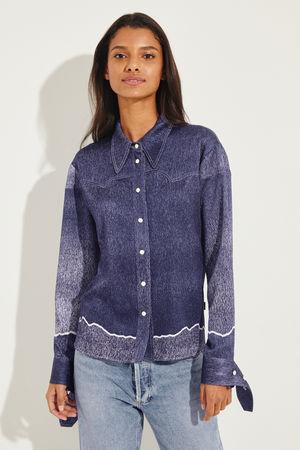 Chloé  - Bluse mit Manschetten Details Blau