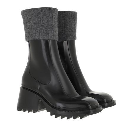 Chloé  Boots & Stiefeletten - Betty Rain Boots - in schwarz - für Damen grau