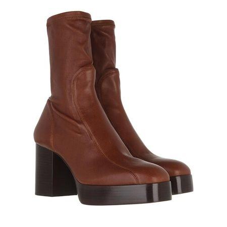 Chloé  Boots & Stiefeletten - Block Heel Boots Leather - in dark brown - für Damen