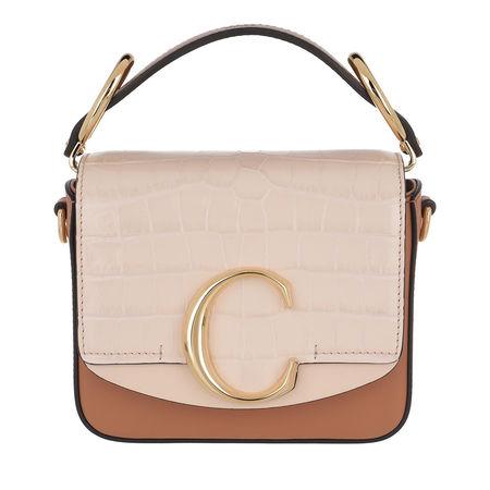 Chloé  Crossbody Bags - Mini C Crossbody Bag Calfskin - in rosa - für Damen braun