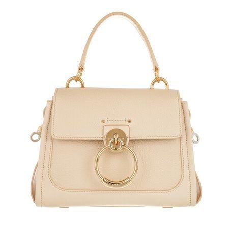 Chloé  Crossbody Bags - Tess Day Mini Crossbody Bag Leather - in beige - für Damen