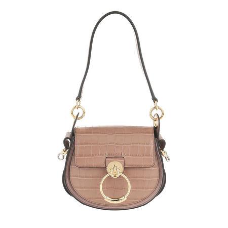 Chloé  Crossbody Bags - Tess Shoulder Bag Leather - in beige - für Damen braun
