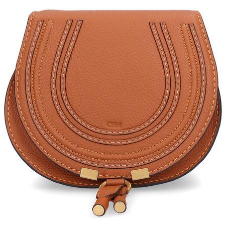 Chloé  Handbag MARCIE SATTLE S Kalbsleder Logo braun