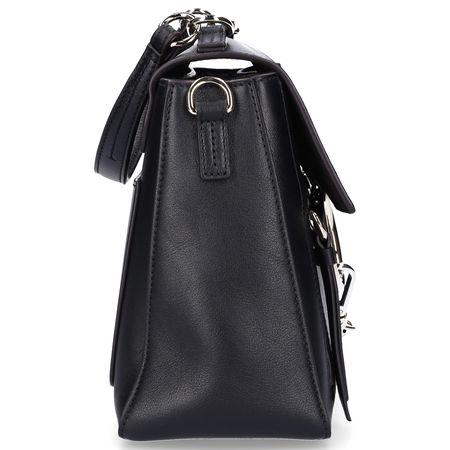 Chloé Handtasche FAYE S Kalbsleder Veloursleder Logo schwarz grau