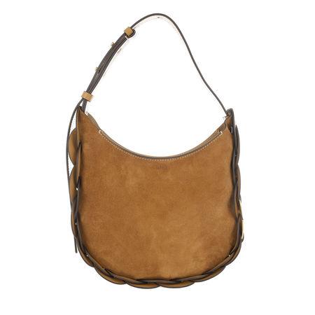 Chloé  Hobo Bag - Darryl Small Crossbody Bag Suede Calfskin - in braun - für Damen braun