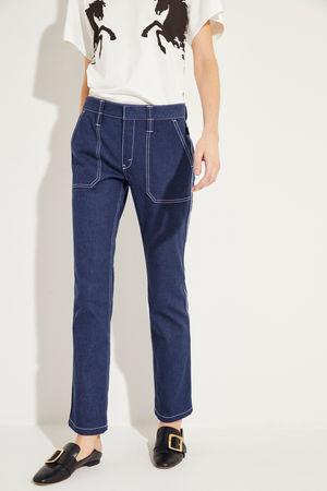 Chloé  - Jeans mit Ziernähten Ultramarine braun