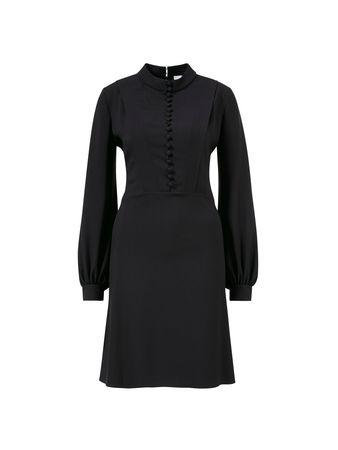 Chloé  - Kleid mit Knopfleiste Schwarz