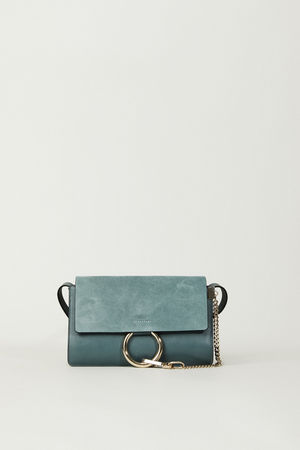 Chloé  - Schultertasche 'Faye Small' Cloudy Blue