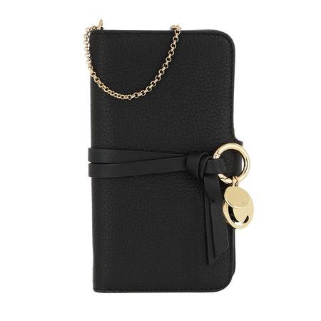 Chloé  Smartphone Case  -  Smart Phone Holder Black  - in schwarz  -  Smartphone Case für Damen schwarz